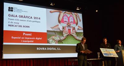 Premi impressió digital i maniplat gala gràfica 2014